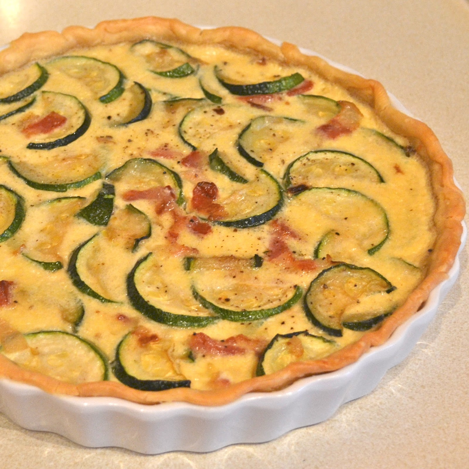Zucchini, Bacon and Gruyere Quiche or Zucchini Explosion Part lll