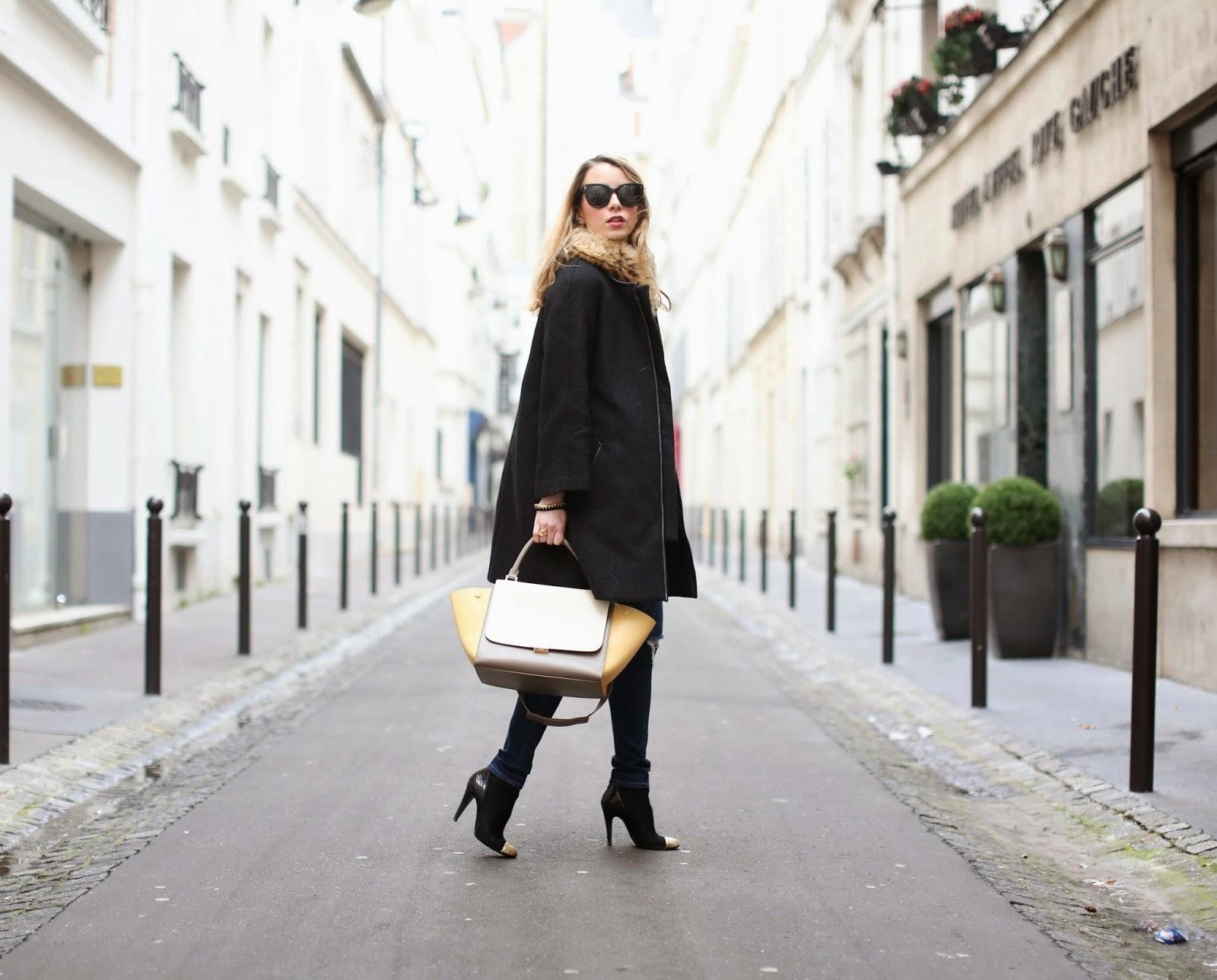 Céline, fur, chanel, isabel marant, streetstyle, fashion blogger, paris