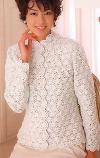 Очень женственный белый жакет