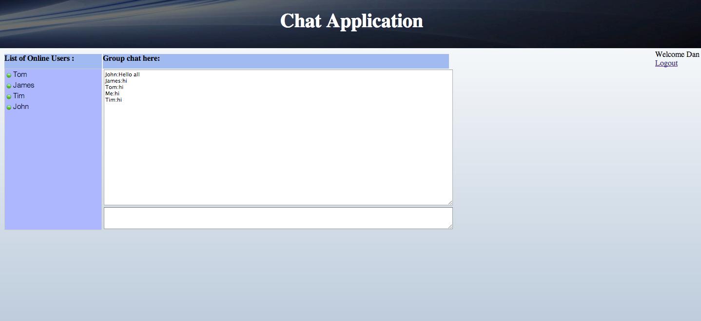 Javaandroid tutorials chat application in java using jsp and servlet chat application in java group chat baditri Choice Image