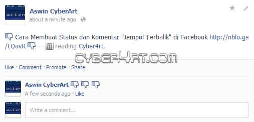 """cyber4rt.com Cara+Membuat+Status+dan+Komentar+Jempol+Terbalik+di+Facebook Cara Membuat Komentar """"Jempol Terbalik"""" di Facebook"""
