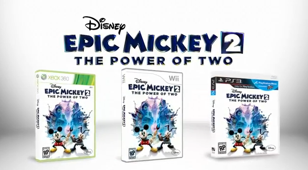 Disney Epic Mickey 2 The Power of 2 Available doe Nintendo Wii, PlayStation 3, and Xbox 360 released on November 2012