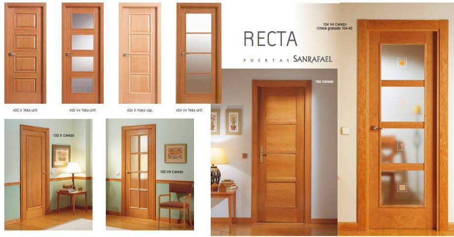 Puertas de interior de madera karpinteria puertas for Tipos de puertas de interior