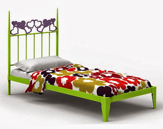 cama con bañera forja, dormitorio infantil