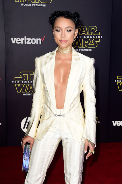 "Actress, Model, @ Karrueche Tran - premiere of ""Star Wars: The Force Awakens"" in Hollywood"