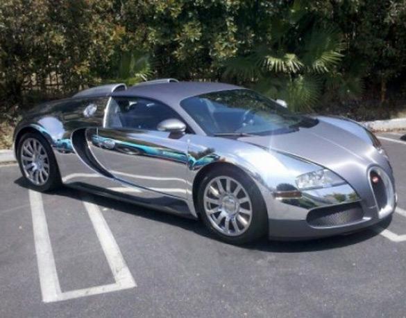 news flo rida s bugatti veyron gets chrome wrap treatment newsautomagz. Black Bedroom Furniture Sets. Home Design Ideas