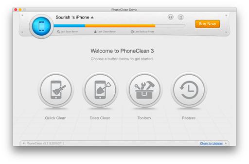 Bersih hapus memori iPhone 1