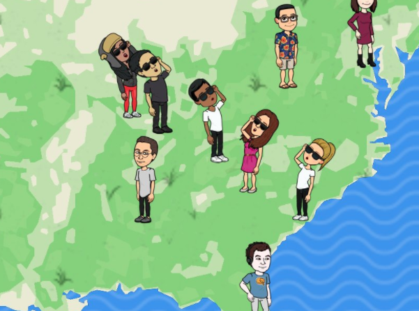 Snap map bitmoji