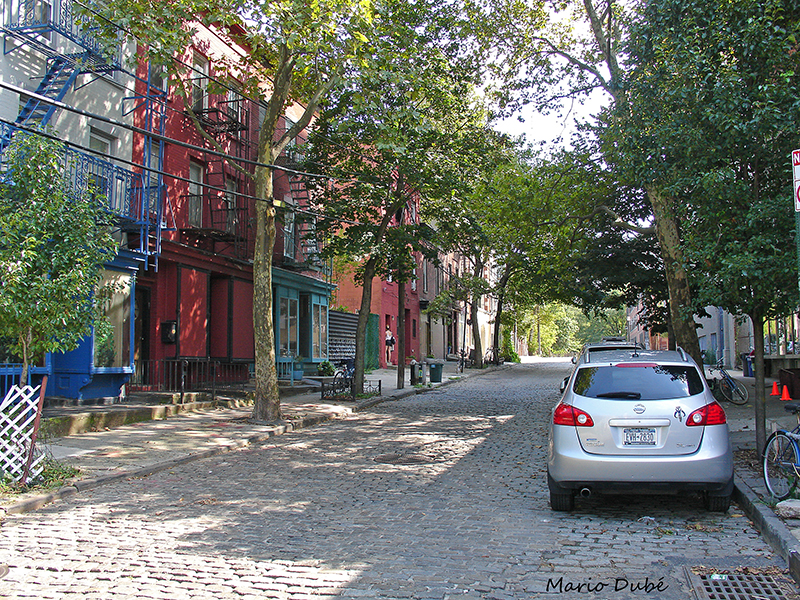 Rue pavée dans Vinegar Hill (Brooklyn)