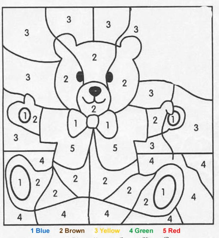 cartoon numbers coloring pages - photo#30