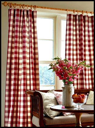 ... Fabulous Red And White Buffalo Check In The Kitchen. Well I Did Go To  Country Curtains To Purchase The Drapes And Valances I Had Shown You In The  Post.