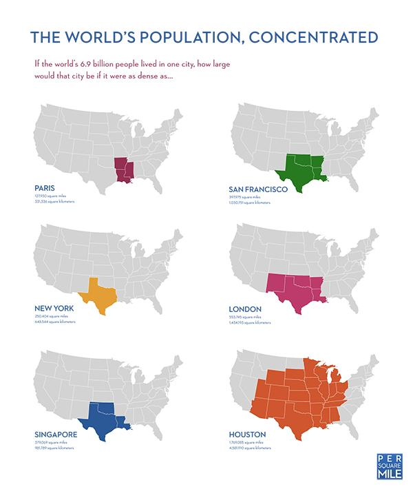 Infographic: The world's population, concentrated