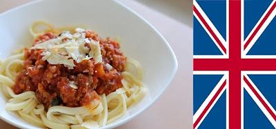 British Spaghetti bolognese