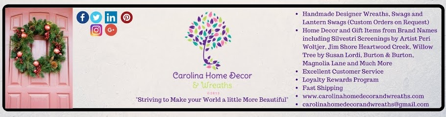 Carolina Home Decor and Wreaths