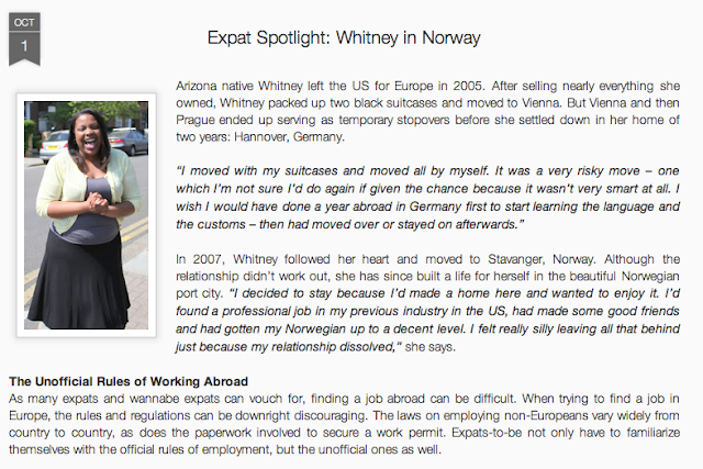 American Black Chick in Europe - Whitney in Norway