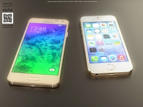 Samsung Galaxy Alpha vs iPhone 6 6