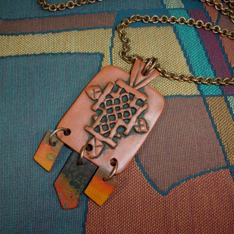 Coptic Cross in Clay