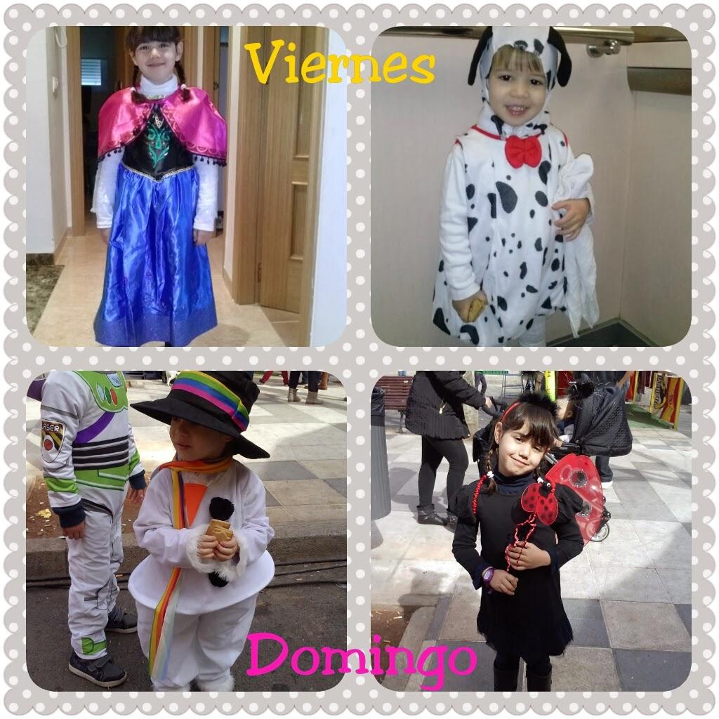 Disfraces de los niños en Carnaval
