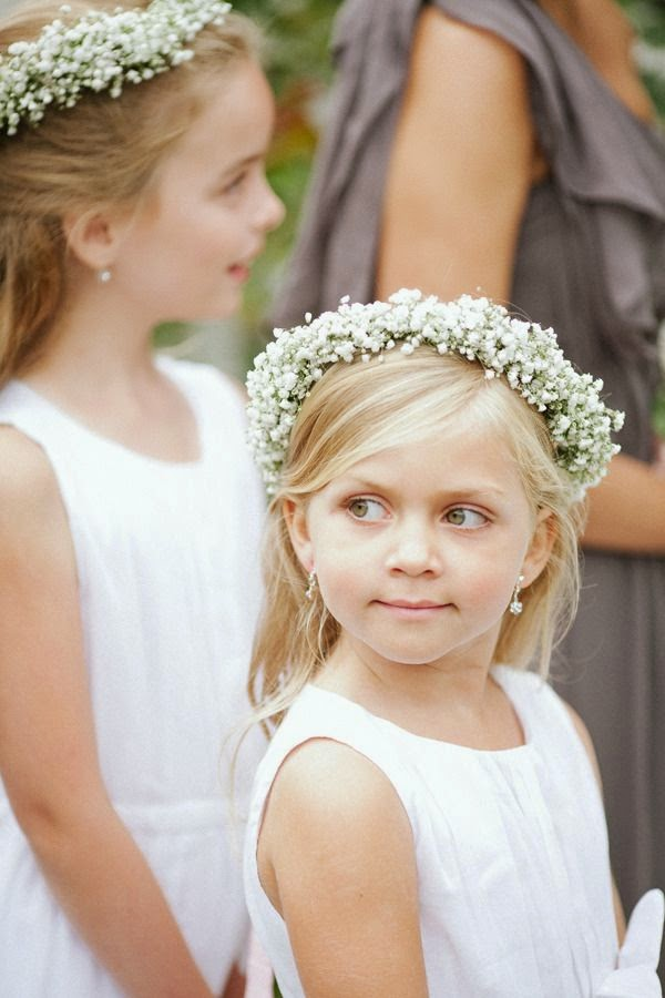 baby's breath flowergirl headpiece