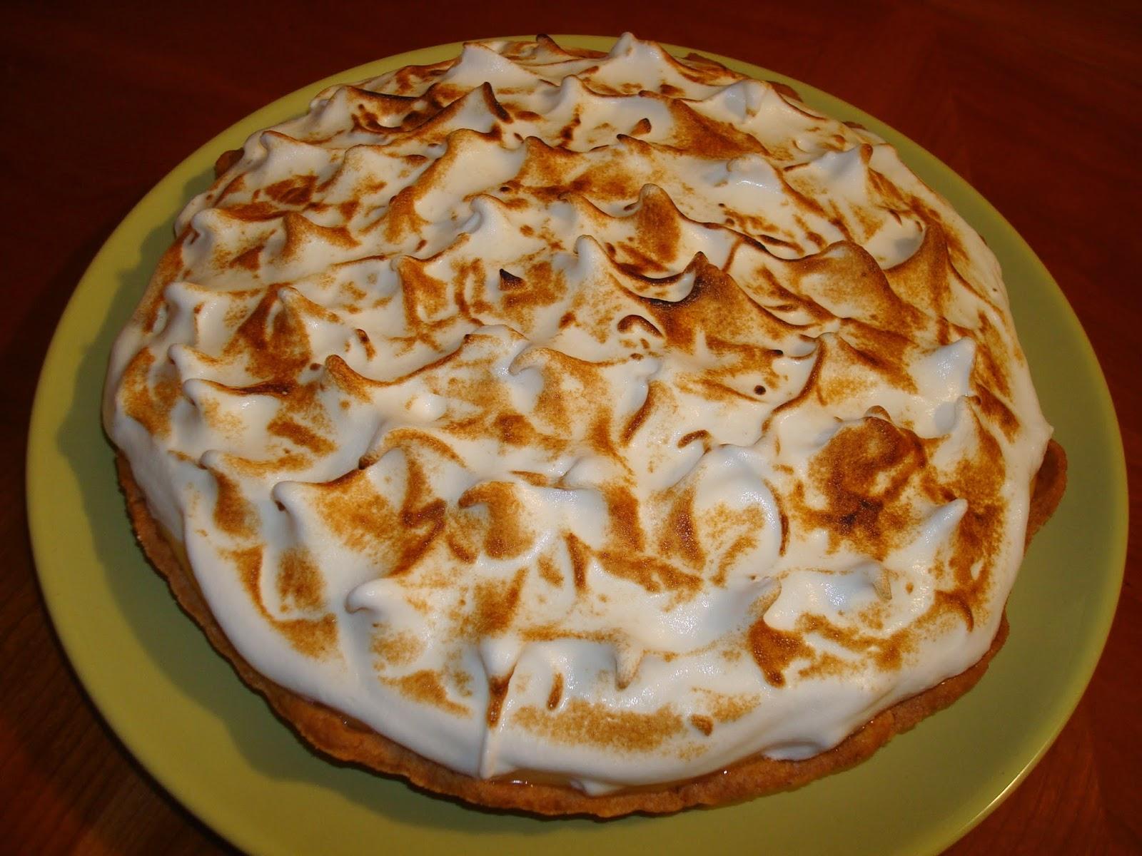 Masa quebrada, crema de limón, tarta de cumpleaños, merengue italiano masterchef