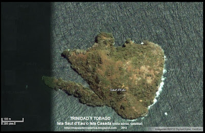 Isla Saut d'Eau, TRINIDAD Y TOBAGO, (vista aerea, satelital)