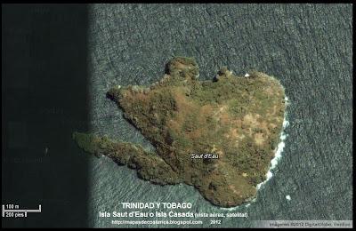 Isla Saut d'Eau, TRINIDAD Y TOBAGO, (vista aerea, satelital)