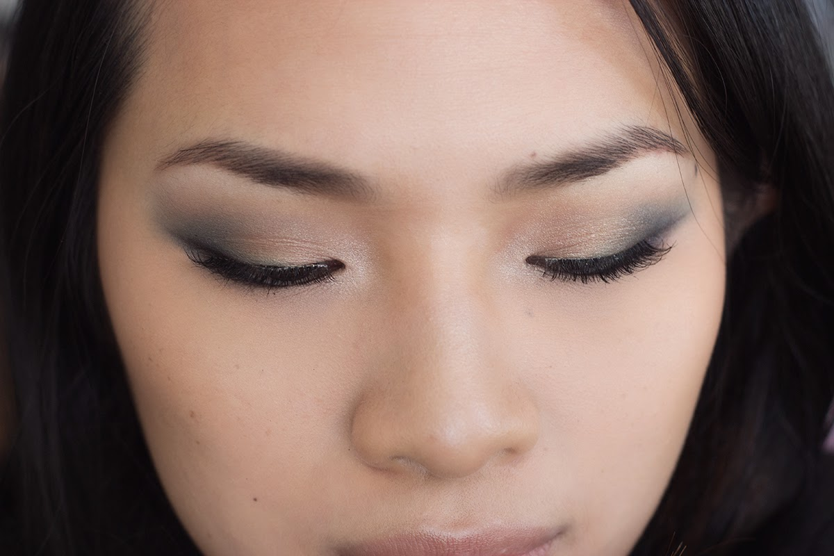 blue and copper eye makeup