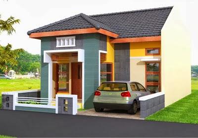 warna cat untuk bagian depan rumah gambar rumah idaman
