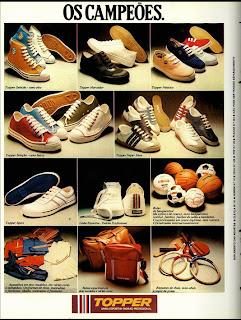 Anúncio tênis topper de 1976.  moda anos 70; propaganda anos 70; história da década de 70; reclames anos 70; brazil in the 70s; Oswaldo Hernandez