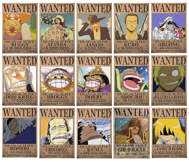 Buy One Piece Wanted Posters