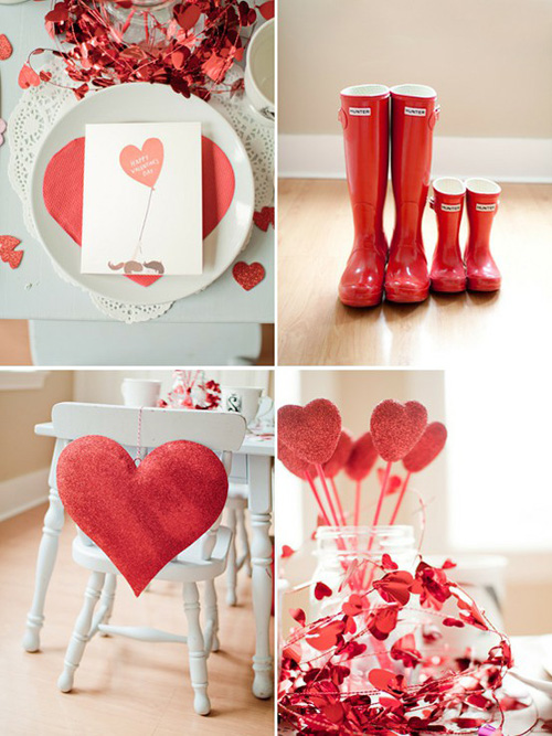 Diy valentine s day decorations julie ann art - Decoration table pour invites ...