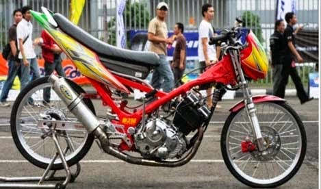 Modifikasi Motor Satria 150F Drag Style
