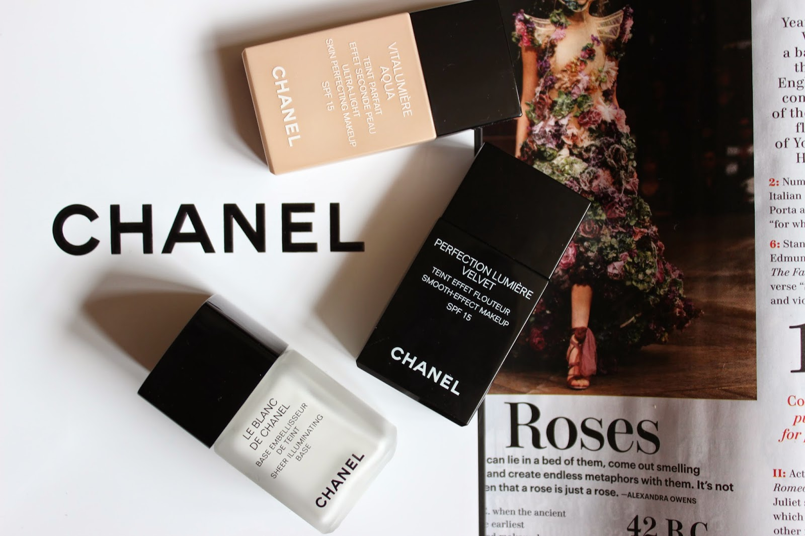 Chanel Haul Vitalumiere Aqua Perfection Lumiere Velvet Le Blanc De Chanel Haul L'amour Josie