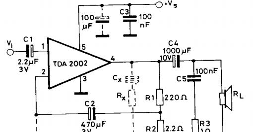 tda2002 audio ammplifier 10w    diagram guide