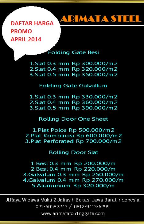 gambar untuk informasi harga folding gate murah