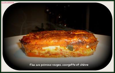 Image Flan aux poivrons, courgette et chèvre