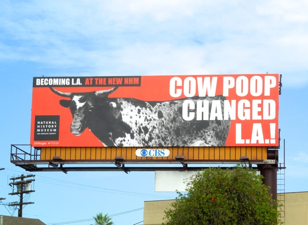 Cow poop changed LA billboard