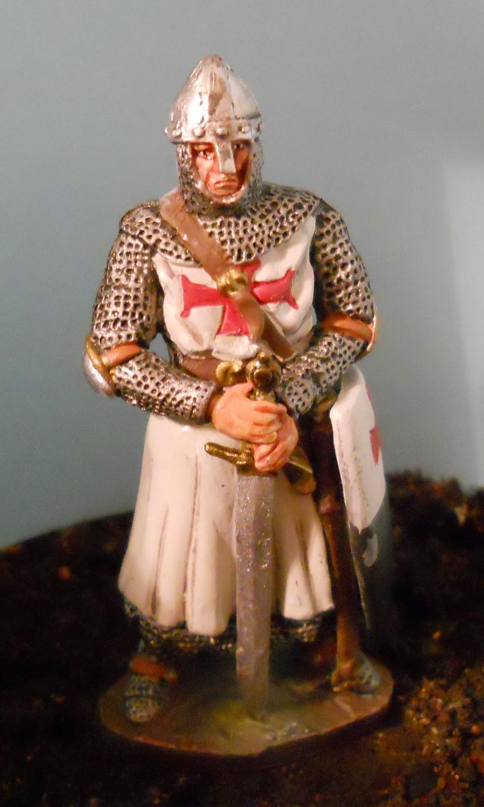 soldado de plomo de caballero templario