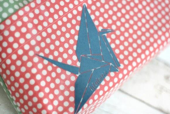 Bügelbild Kranich für die selbstgenähte Tasche