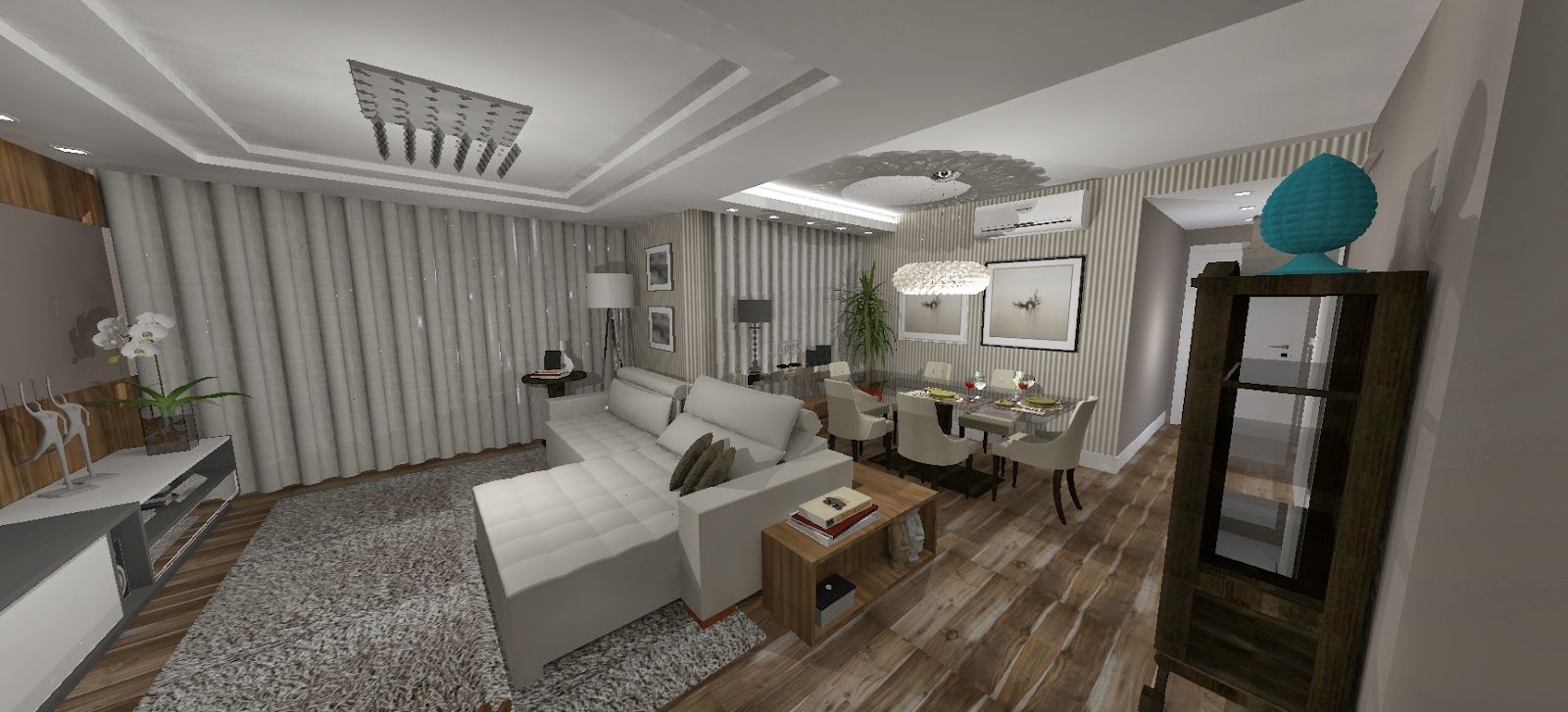 Sala De Jantar Integrada ~  Spolti Arquitetas Associadas Sala de Jantar integrada a Sala de TV