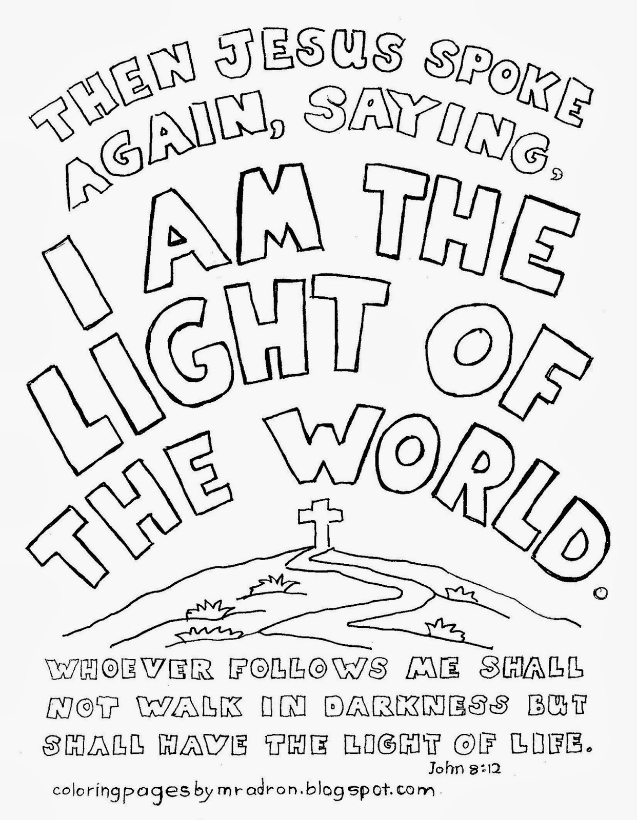light of the world coloring pages coloring pages for kids by mr adron i am the light of
