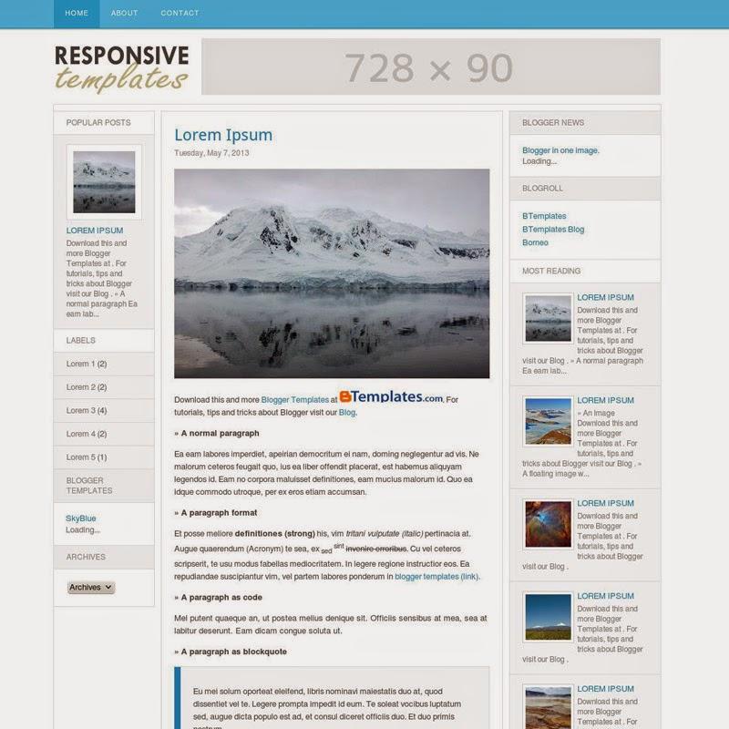 ResponsiveT Free blogger template