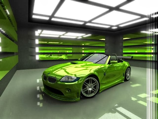 Green BMW Sports Car