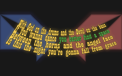 God On Drums, Devil On The Bass - Katie Melua Song Lyric Quote in Text Image