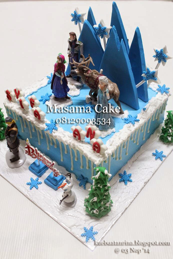 Masama Cakes Frozen Birthday Cake For Syifa Ana