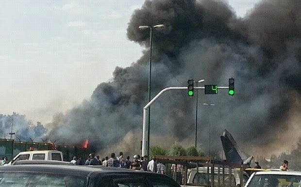 Iranian plane crashes after takeoff, killing 39