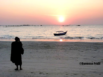 Sunset in Ngapali Beach,Travel Myanmar