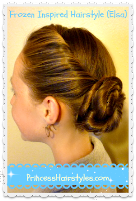 Elsa's coronation hairstyle in Frozen (tutorial)