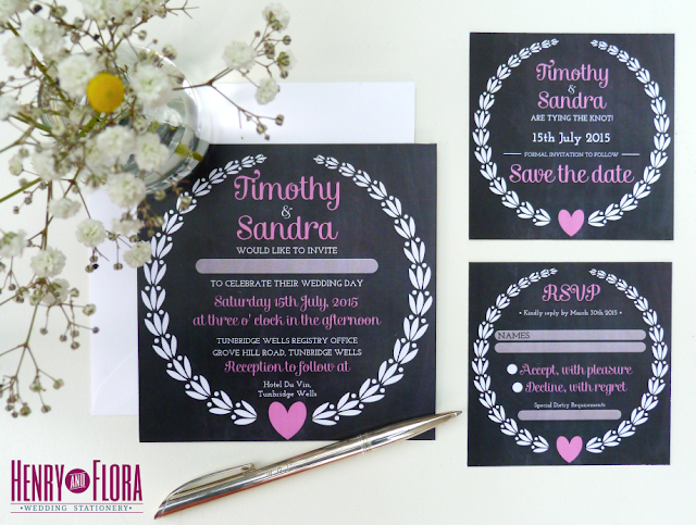 Chalkboard Charm Vintage Wedding Invitation