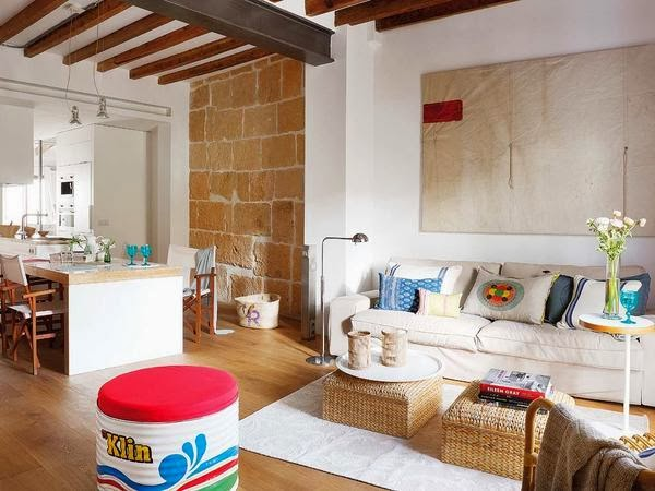 Estilo rustico piso rustico tipo loft for Loft rustico